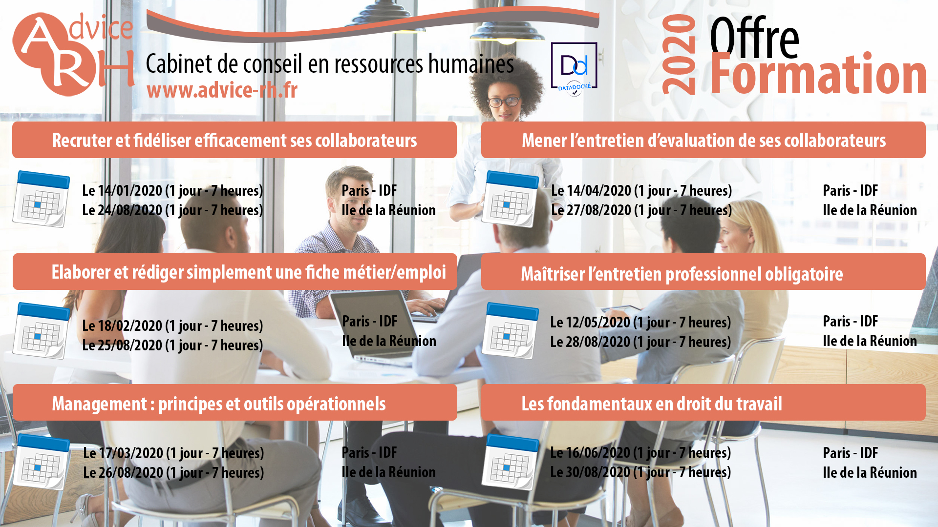 Advice RH - Offre formation 2020