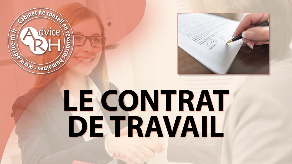 Advice RH - Article - Le contrat de travail