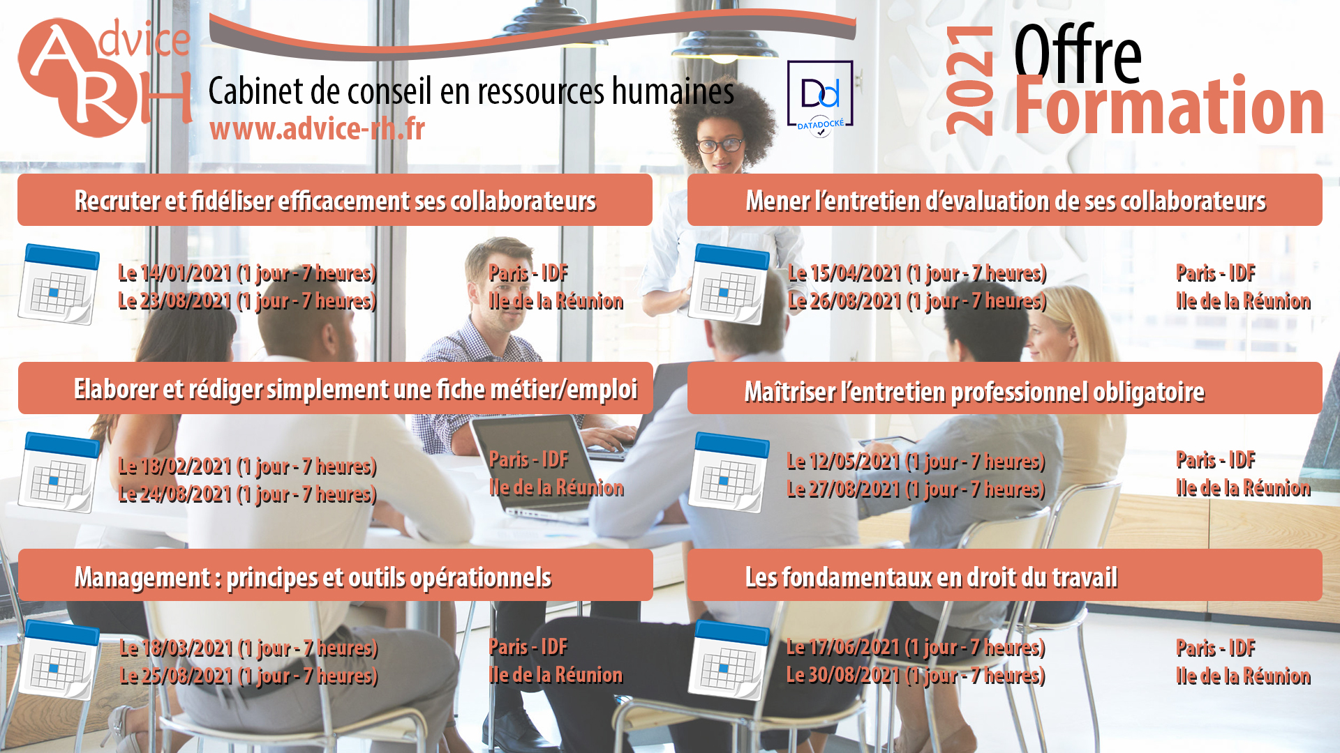 Advice RH - Offre formation 2021